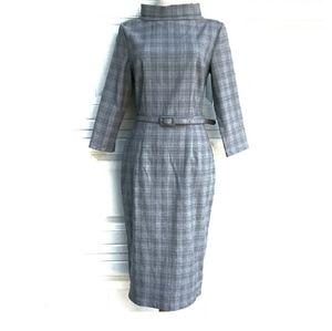 MUXXN 3/4 Sleeves Midi Pencil Dress
